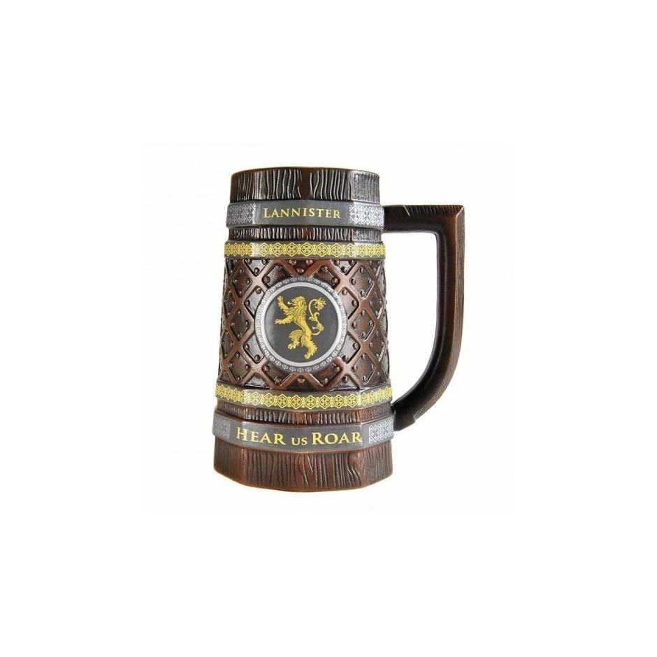 Jarra cerveza casa Lannister Juego de Tronos