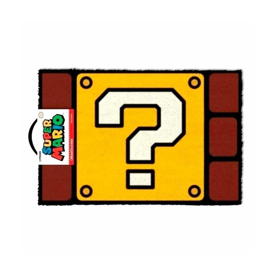 Felpudo Super Mario Nintendo Question Mark Block
