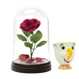 Lámpara urna con rosa+Taza Chip