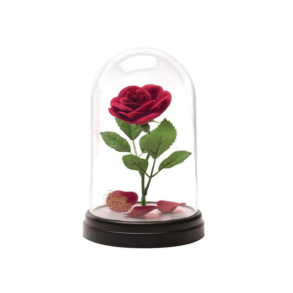 Lámpara urna con rosa+colgante
