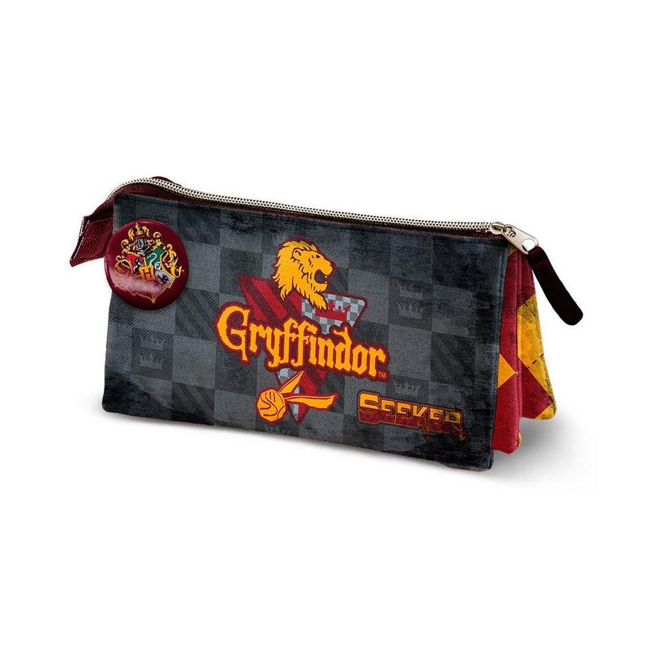 Portatodo triple Harry Potter Quidditch Gryffindor
