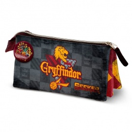 Portatodo triple Harry Potter Quidditch Gryffindor