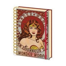 Libreta A5 Wonder Woman Vintage
