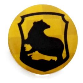 Chapa escudo Hufflepuff Harry Potter