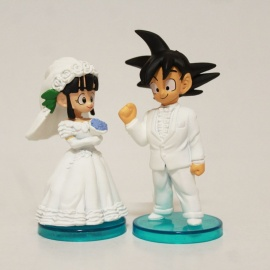 Muñecos de boda Goku y Chichi - Dragon Ball