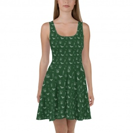Vestido Skater Estilo Slytherin Harry Potter