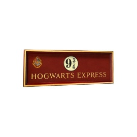 Cartel de madera Harry Potter Escudo Hogwarts Express