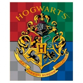 Manta escudo Hogwarts Harry Potter