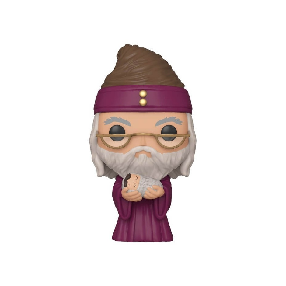 Figura Pop! Albus dumbledore con bebé Harry Potter