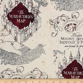 "Tela Harry Potter ""The Marauder's Map"""