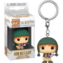 Llavero Pocket POP Harry Potter Holiday Ron