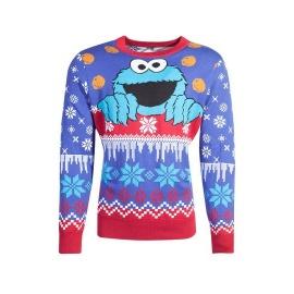 Suéter Christmas Cookie Monster - Barrio Sesamo